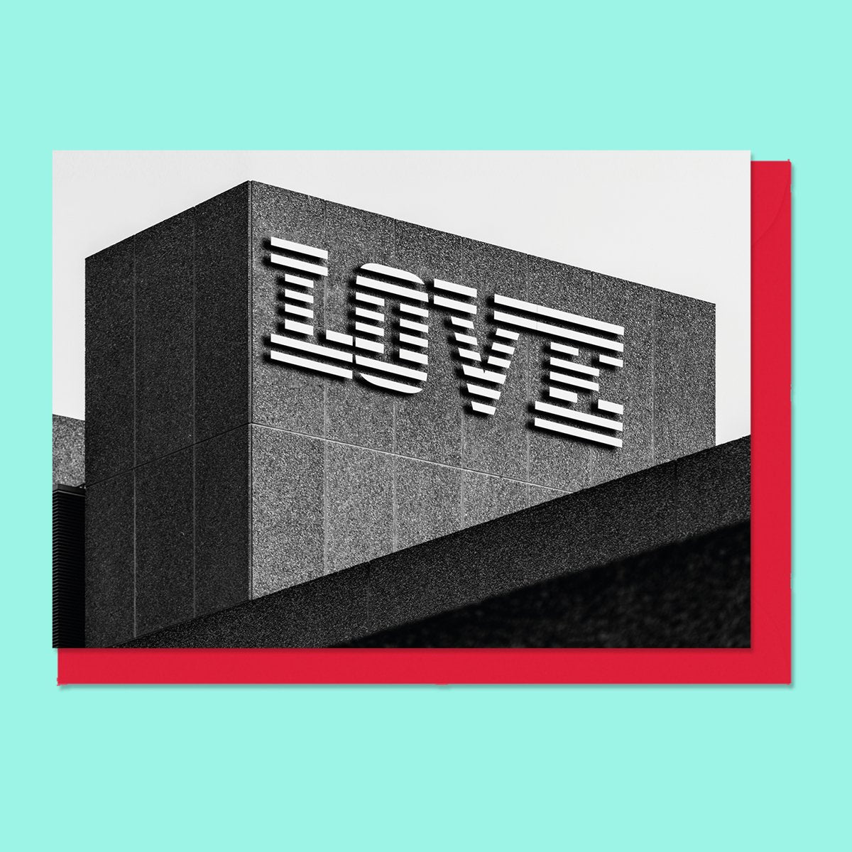 Concrete Love Brutalist Valentines Card Nick Miners