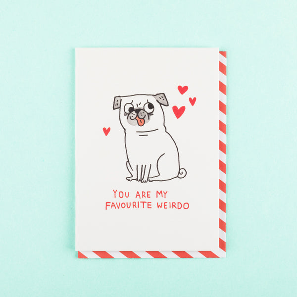 Cool Valentines Day Card Favourite Weirdo Ohh Deer
