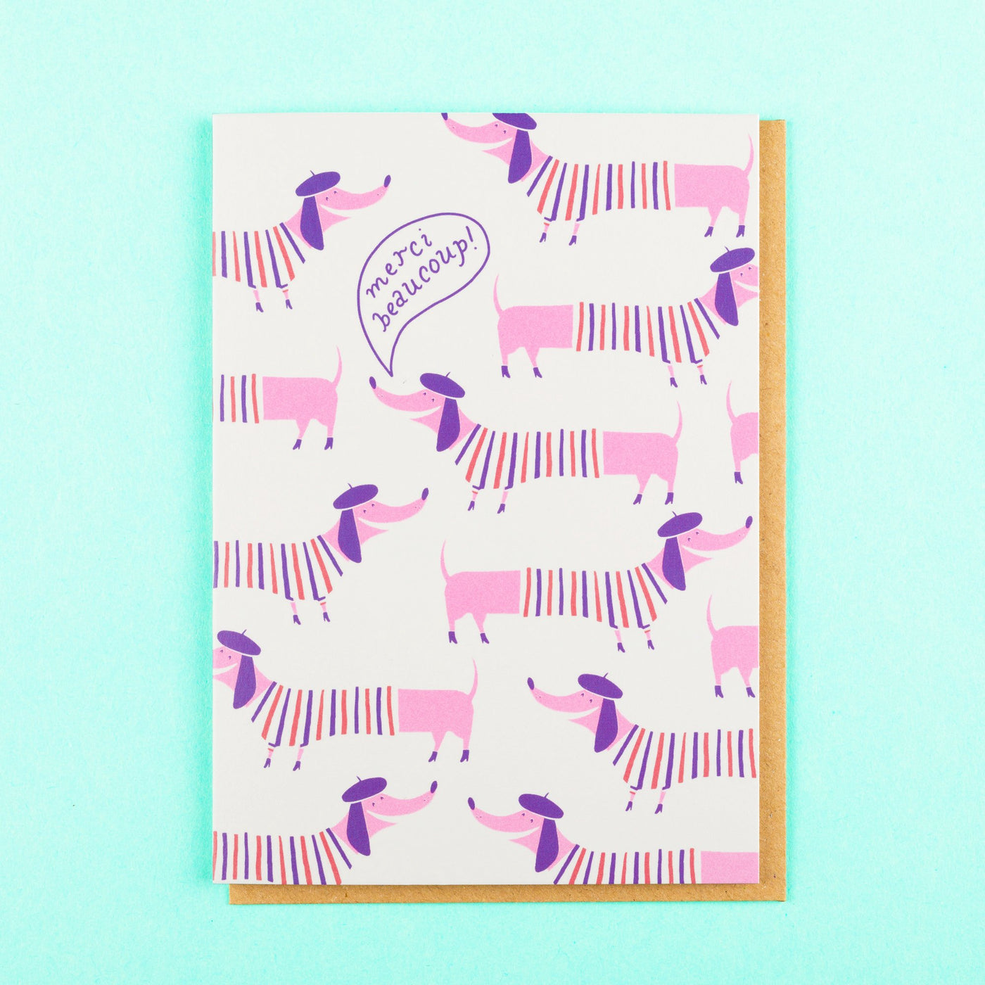 Sausage Dog Cute Thank You Card Ohh Deer