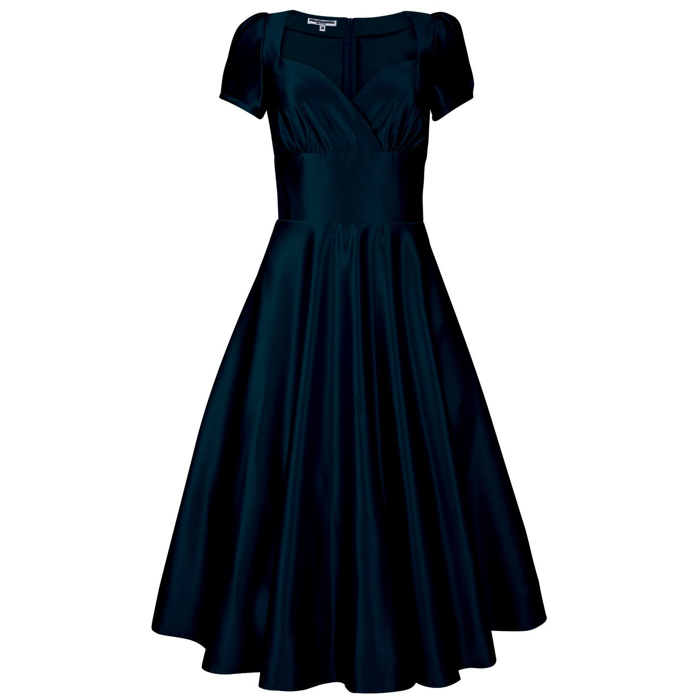Dollydagger Black Vivien Satin Dress