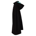Black Wool Hooded Cape