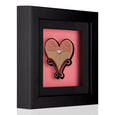 Dollydagger Curly Mark Circus Heart Shadow Box Pink Gold Glitter
