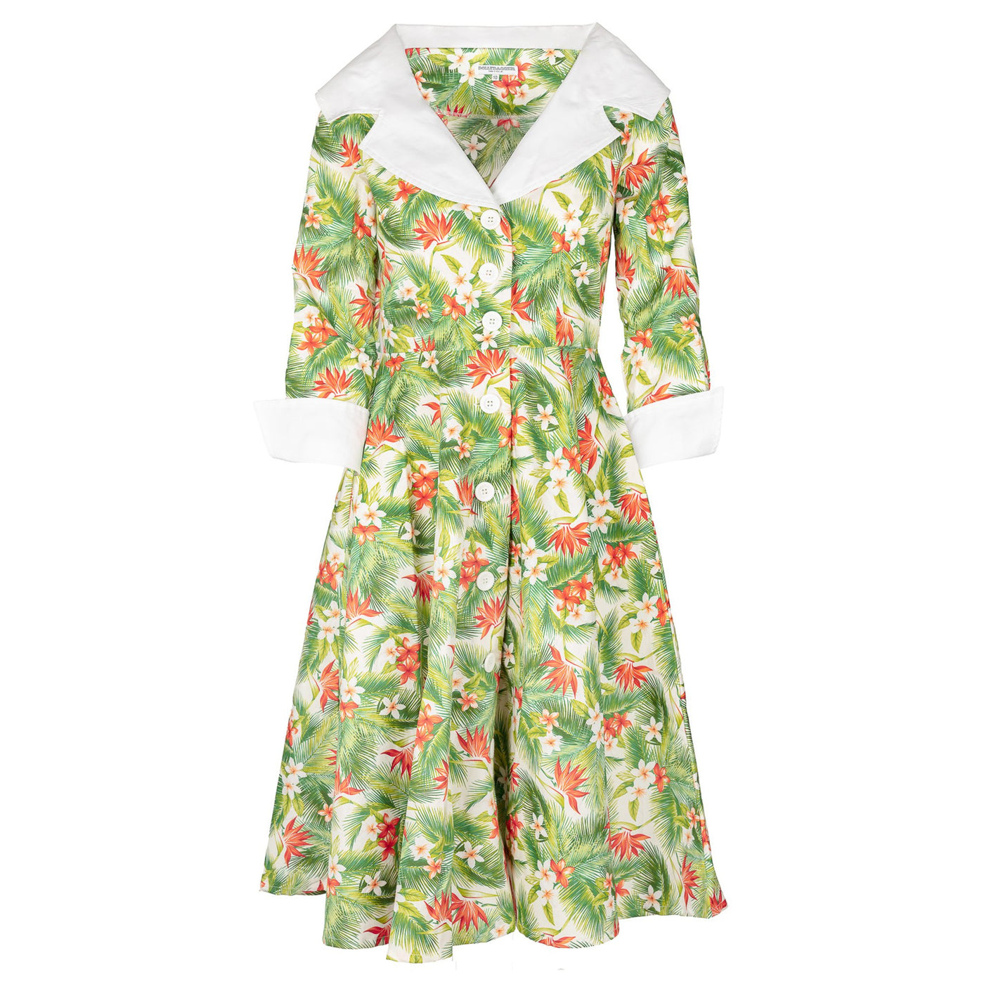 Jackie Hawaiian Print Dress