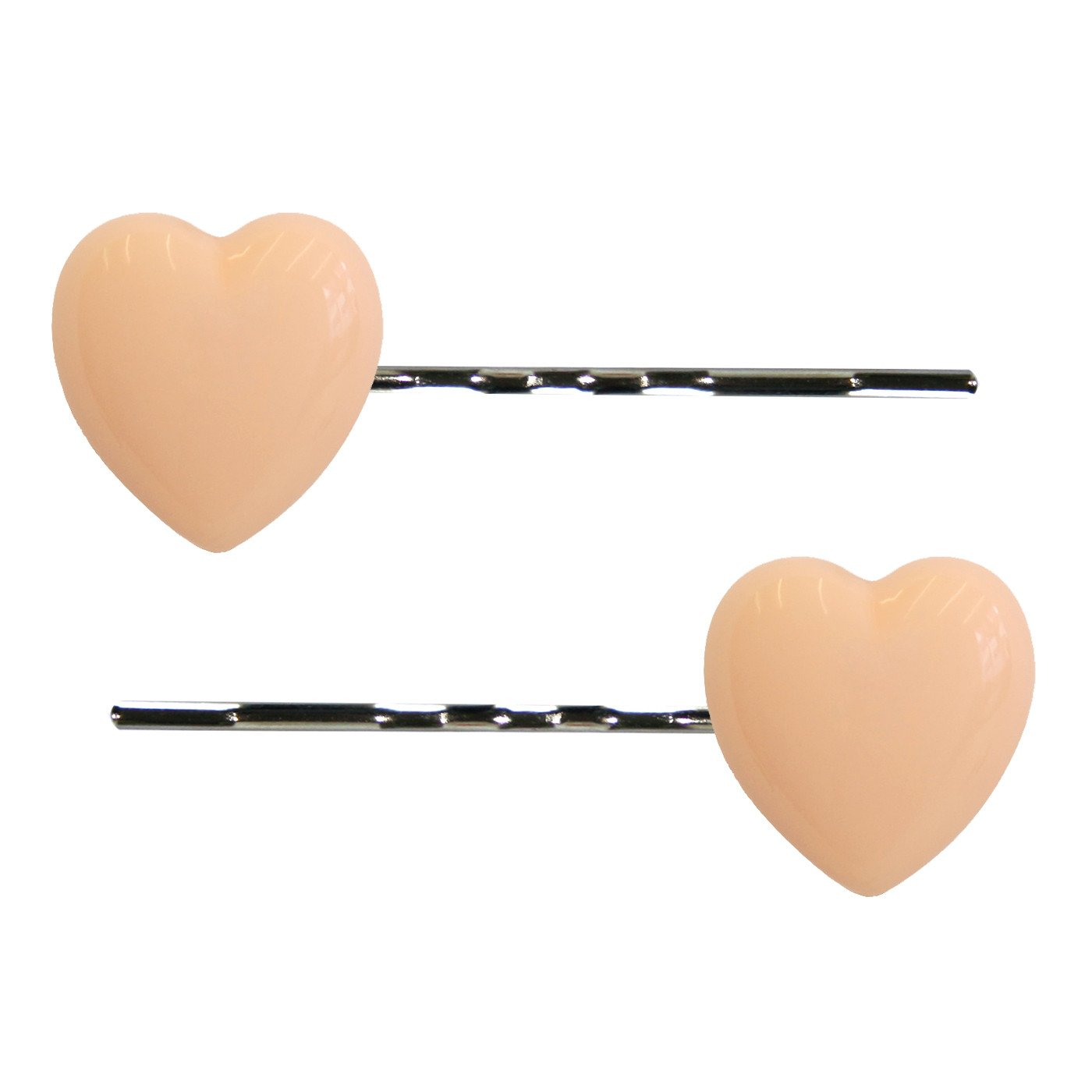 Dollydagger Lucite Heart Hair Slides Nude Pink
