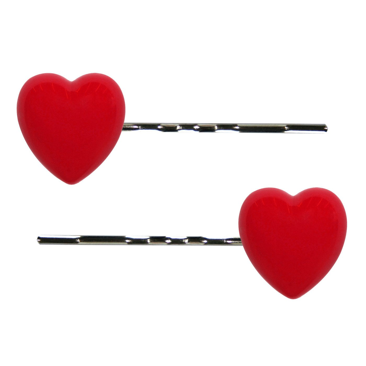 Dollydagger Lucite Heart Hair Slides Red