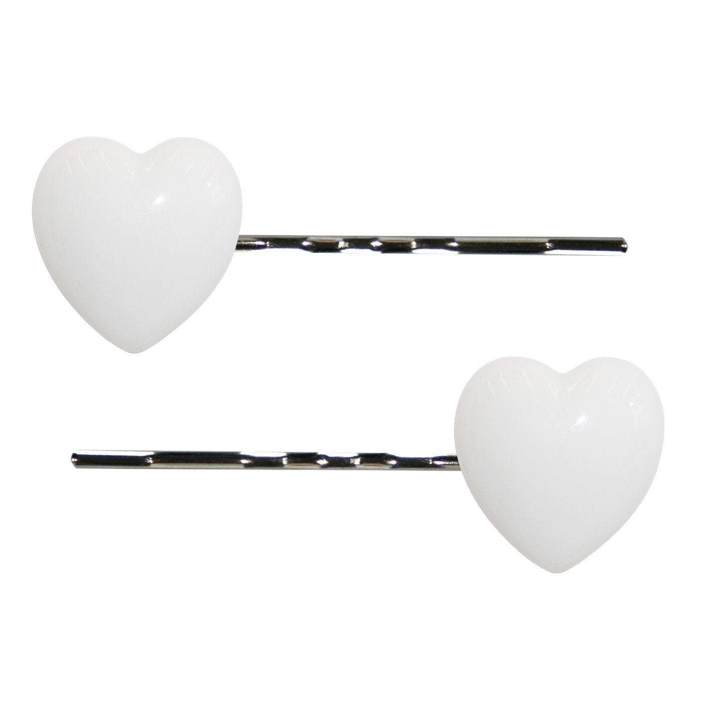 Dollydagger Lucite Heart Hair Slides White
