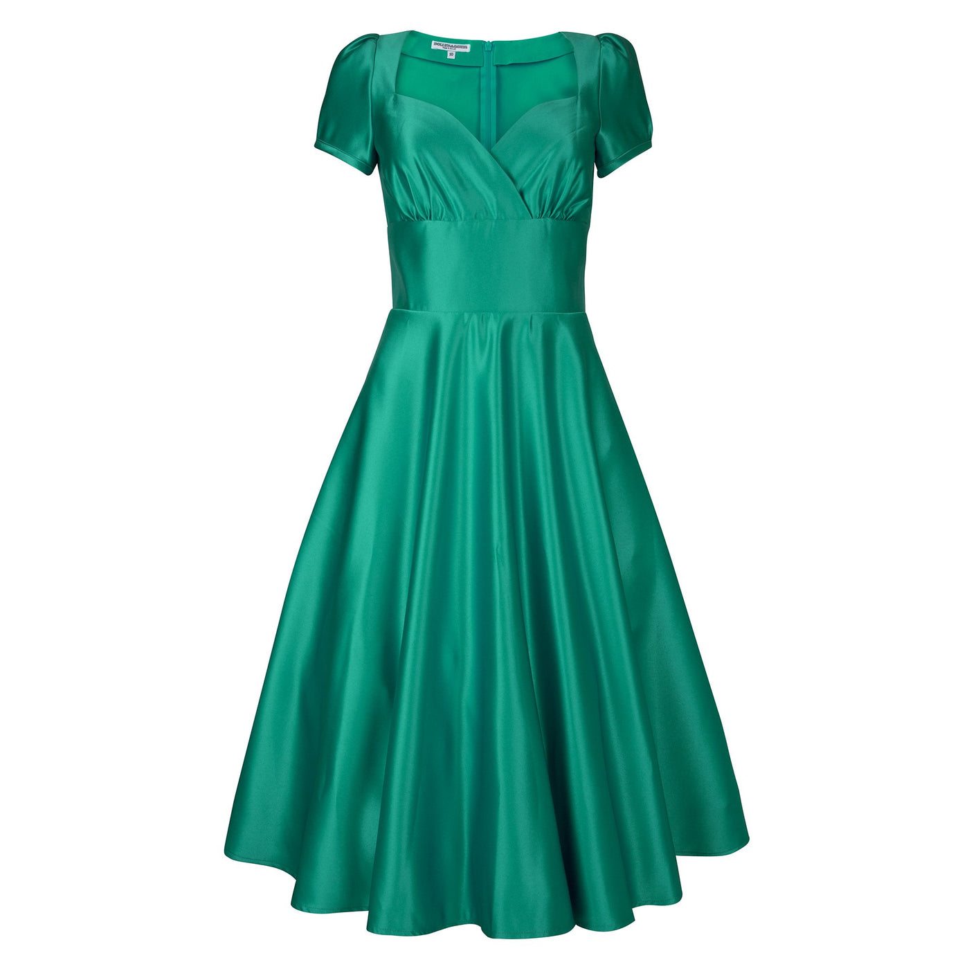 Dollydagger Vivien Emerald Green Satin Dress