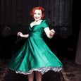 Dollydagger Vivien Emerald Satin Dress