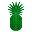 Dollydagger x Curly Mark Perspex Pineapple Wall Decoration
