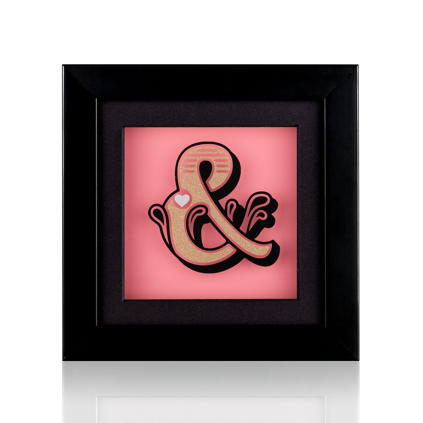 Dollydagger x Curly Mark Pink Circus Ampersand Acrylic Shadow Box