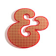 Dollydagger x Curly Mark Red Gold Perspex Ampersand Wall Hanging