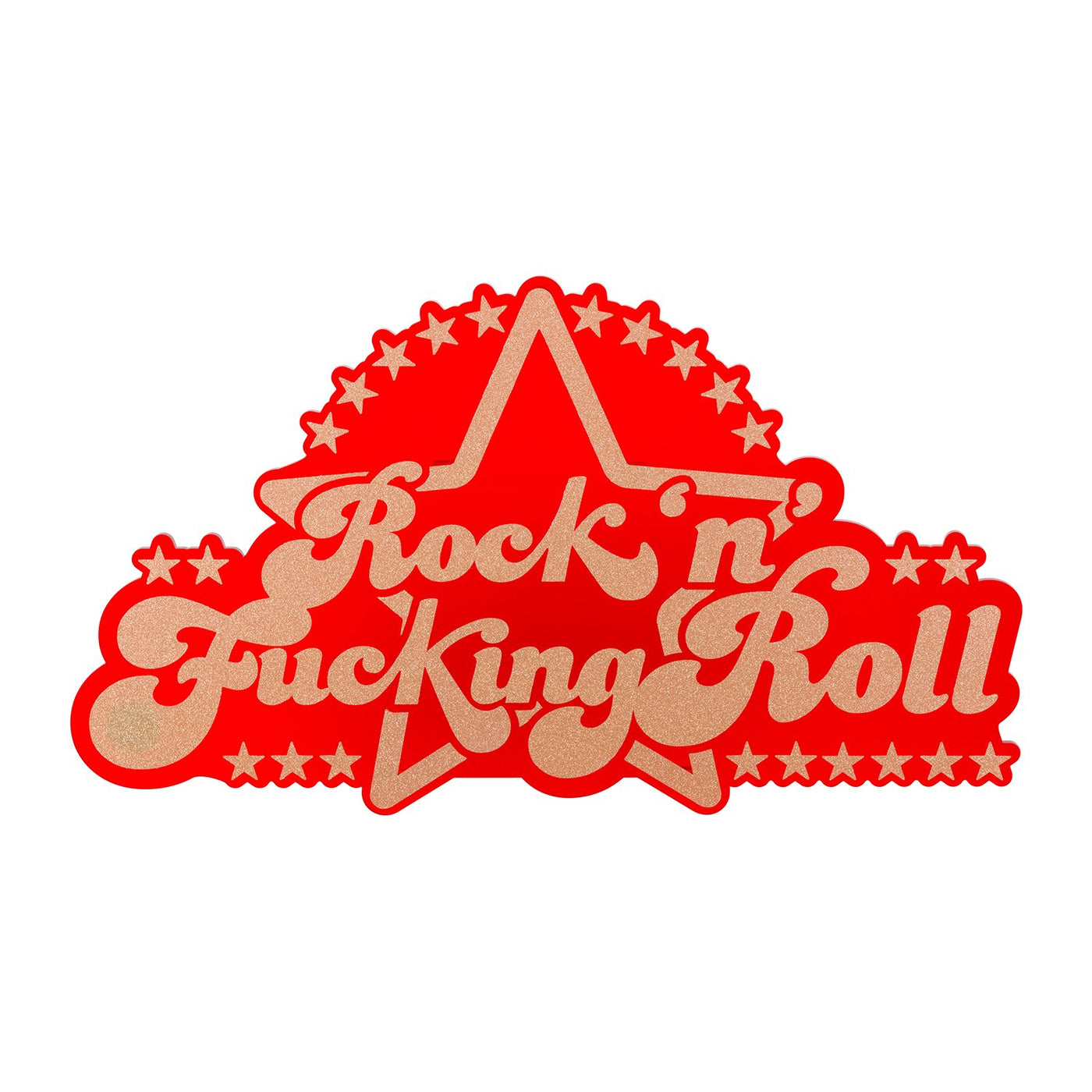 Dollydagger x Curly Mark Red Rock and F-ing Roll Acrylic Wall Art