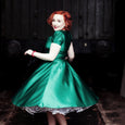 Emerald Green Satin Dress Dollydagger Vivien