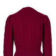Emmy Design Burgundy Ice Skater Cardigan