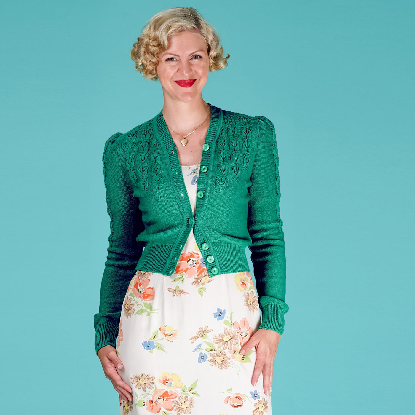 Emmy Design Emerald Green Peggy Sue Cardigan