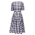 Fit and Flare Gingham Dress