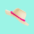 Floppy Straw Hat Pom Pom Chloe by Dollydagger