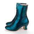 Frida Lace Up Boots Metallic Teal Miss L Fire