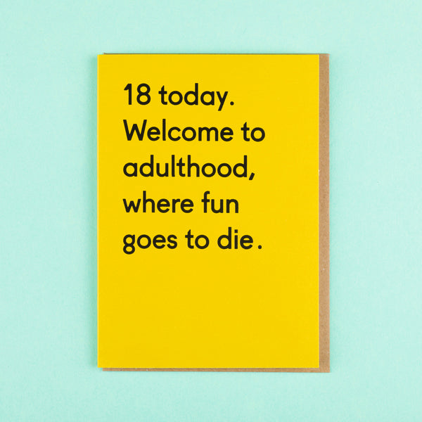 Funny 18th Birthday Card Ohh Deer