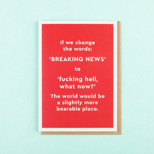 Funny Card Breaking News by Ohh Deer