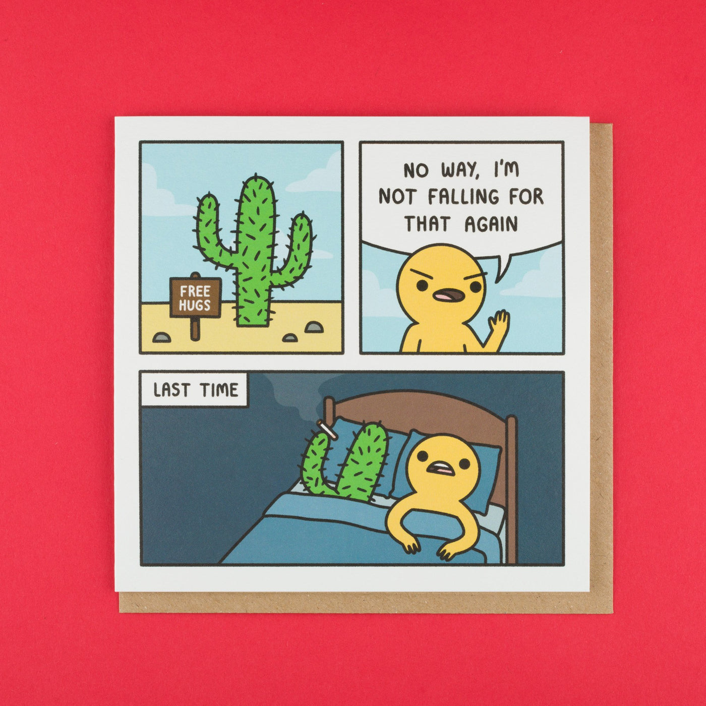 Free Hugs Funny Comic Strip Card by Safely Endangered
