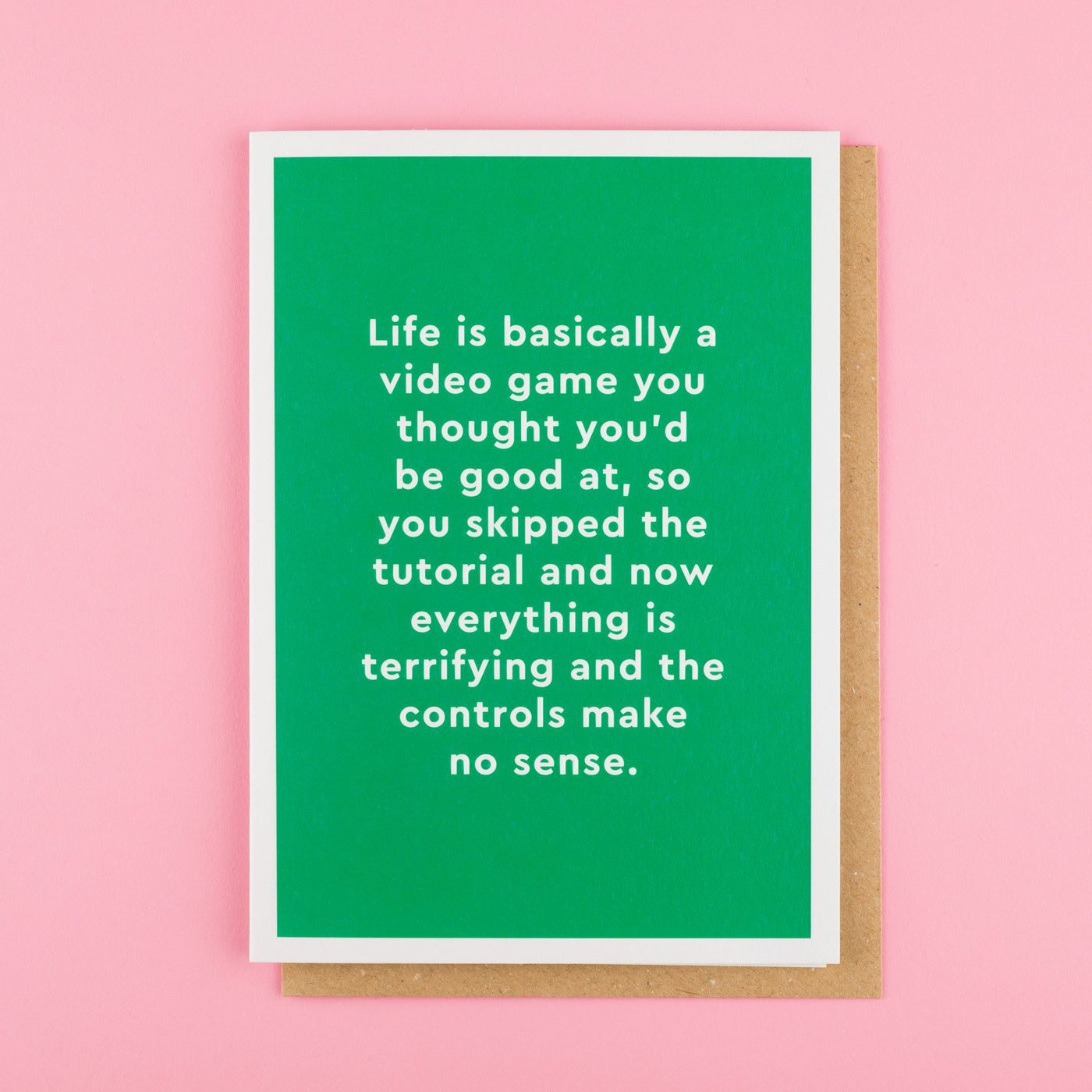Video Game Funny Retro Card by Ohh Deer