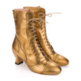 Gold Lace Up Ankle Boots Miss L Fire Frida