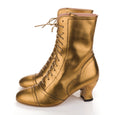 Gold Lace Up Boots Miss L Fire Frida