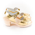 Gold Metallic Clogs by Lotta from Stockholm at Dollydagger