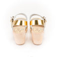Gold Peeptoe Clogs by Lotta from Stockholm at Dollydagger