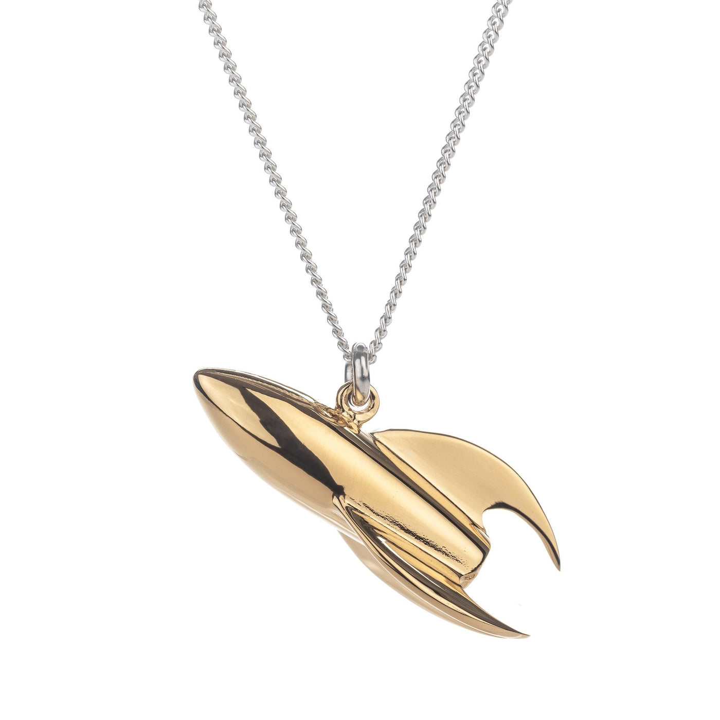 Gold Rocket Ship Pendant Tina Lilienthal