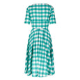 Green and White Gingham Dress