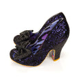 Irregular Choice Black Glitter Shoes