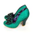 Irregular Choice Green Glitter Shoes