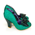 Irregular Choice Nick of Time Shoes Green