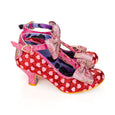 Irregular Choice Red Glitter Shoes Total Freedom