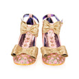 Irregular Choice Total Freedom Shoes Gold
