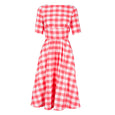 Katie Coral Gingham Dress