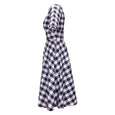 Katie Navy Gingham Dress