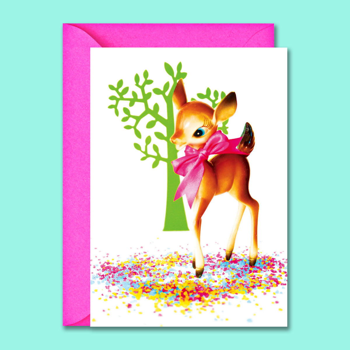 Kitsch Greetings Card Bambi Deer