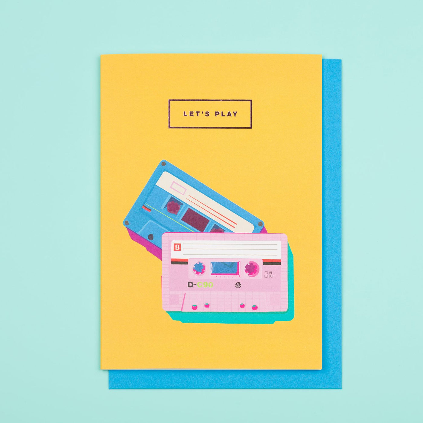 Let's Play 80s Style Card by Emily Brooks