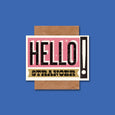 Letterpress Style Card Hello Stranger by Telegramme