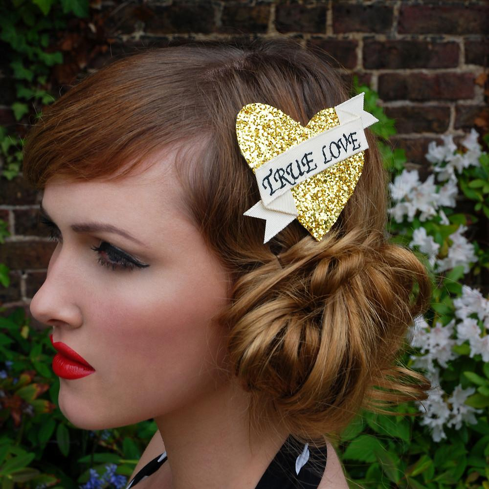 Dollydagger Gold Super Glitter True Love Hair Clip