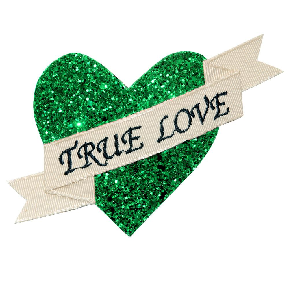 Dollydagger Emerald Green Super Glitter True Love Hair Clip