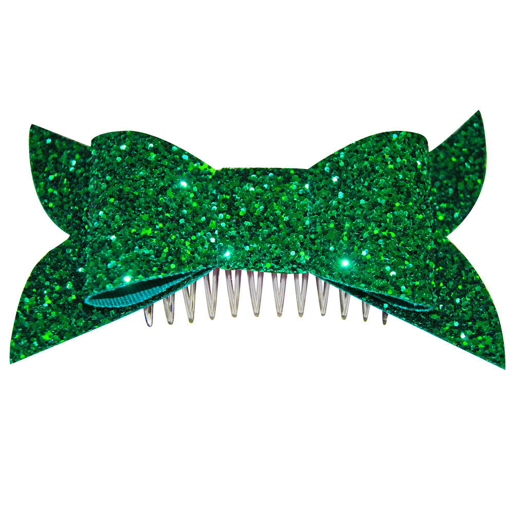 Super Glitter Bow Hair Slide