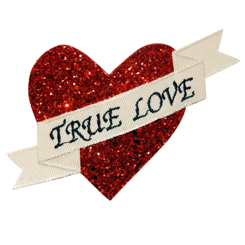 Dollydagger Red Super Glitter True Love Hair Clip