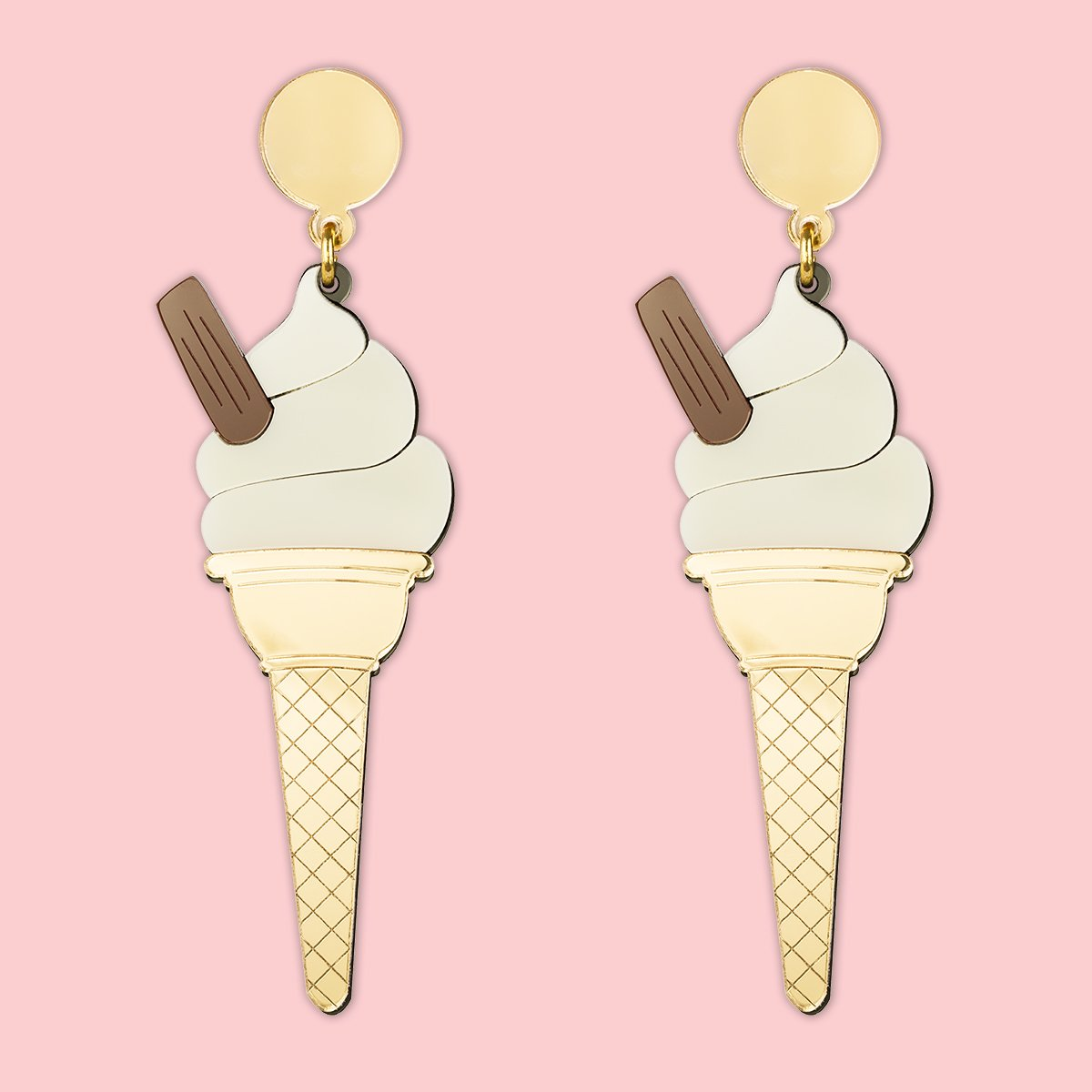 Lou Taylor Mr Whippy Ice Cream Earrings