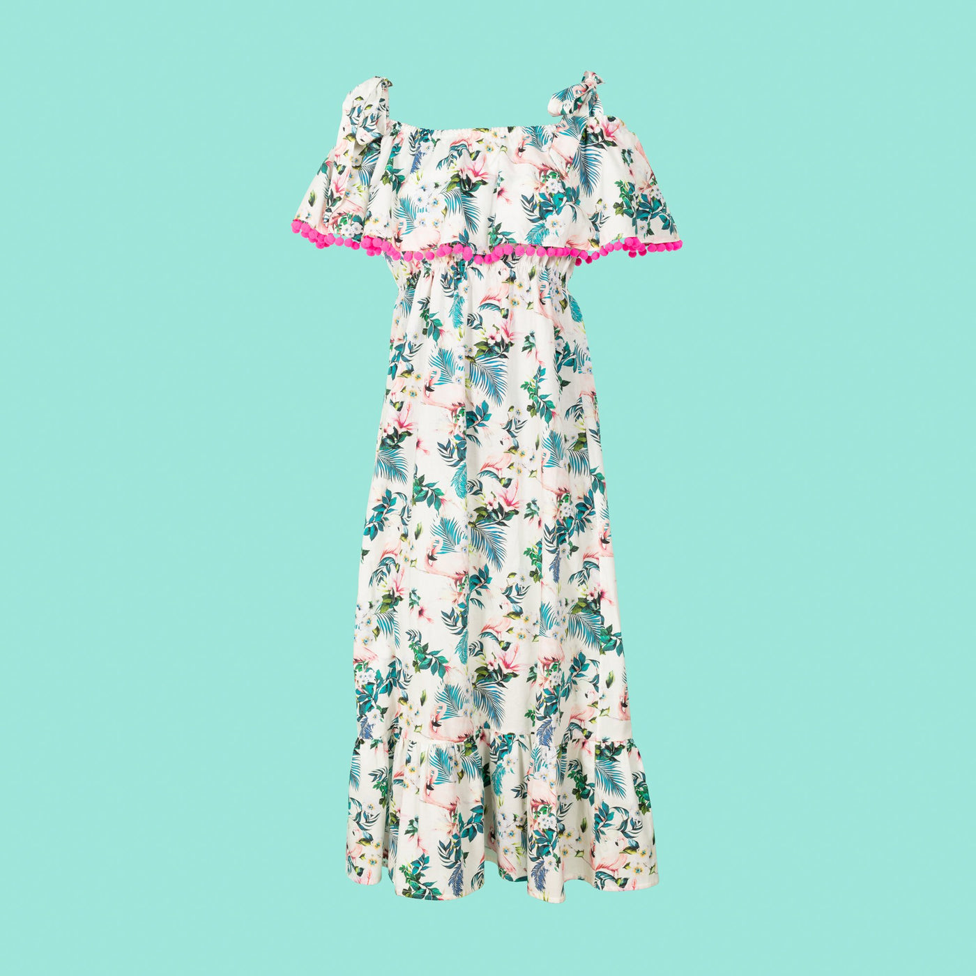 Luxury Flamingo Maxi Dress Dollydagger