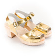 Metallic Gold Clogs by Lotta from Stockholm at Dollydagger