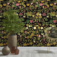 Mind the Gap Asian Fruits and Flowers Anthracite Wallpaper WP20314